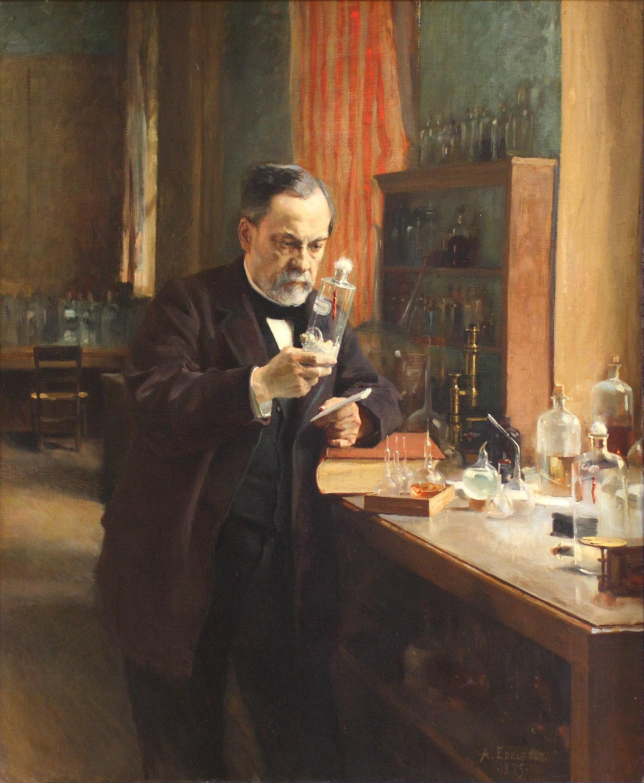 Lous Pasteur, Alber Edlefelt 1885