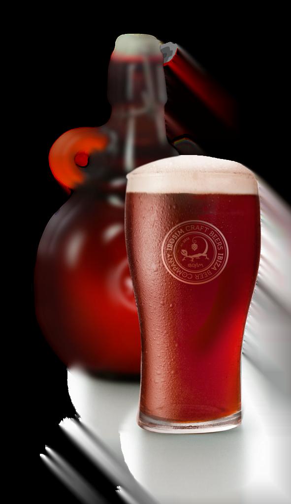 Growler Blood moon cerveza ibosim, ibiza beer company, ibosim craft beer, cerveza hecha en ibiza. craft beer made in ibiza. Reutilizable, takeaway, sostenible. Ibiza produce. Cerveza de tirador. Ibiza draft beer