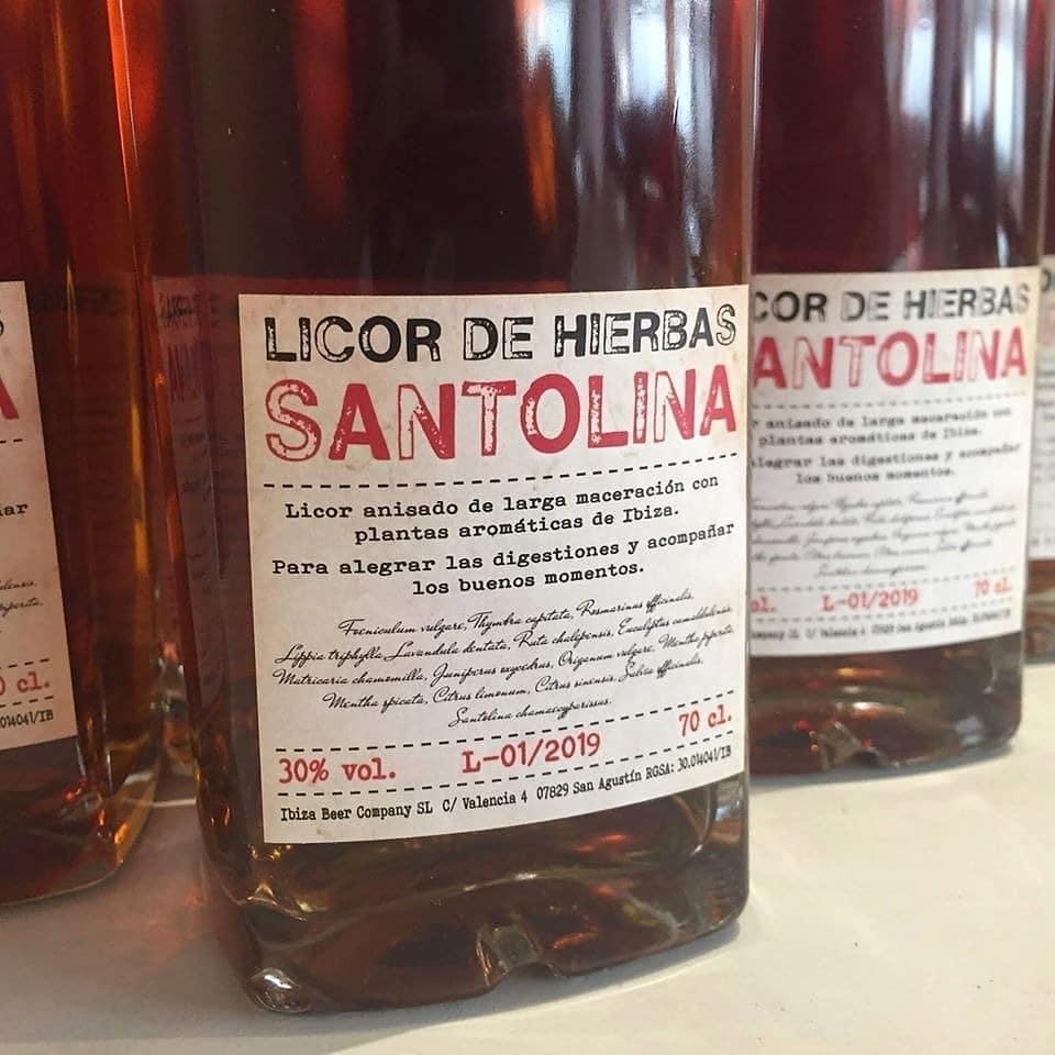 Licor de hierbas Santolina Ibiza