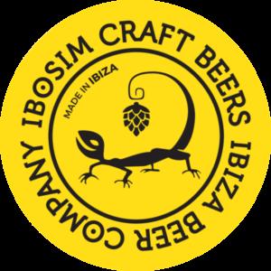 Ibosim craft Beers, Ibiza beer company logo con lagartija Made in Ibiza