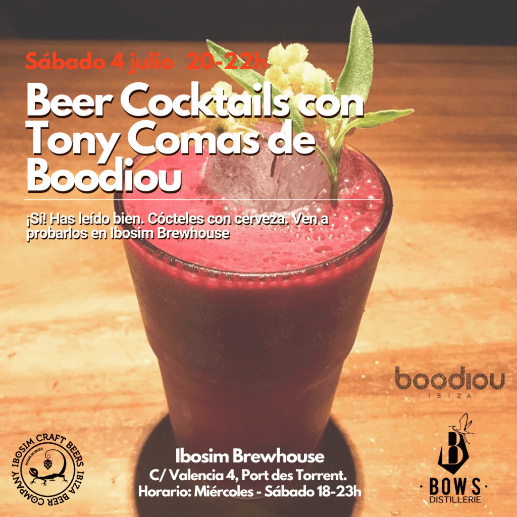 Beer Cocktails con Tony Comas de Boodiou Ibosim Brewhouse. Ibosim Craft Beers