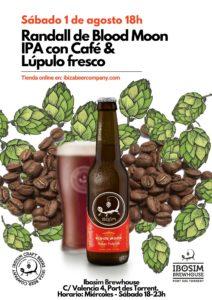 Randall de Blood Moon IPA con lúpulo fresco y café de Meke coffee roasters. Ibiza Beer Company