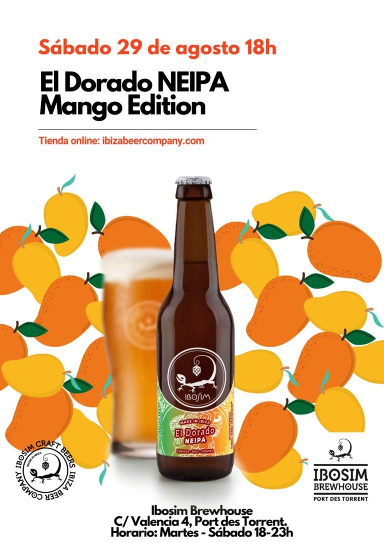 El Dorado NEIPA con Mango. Cervezas Ibosim. Ibiza Beer Company