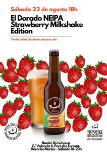 cervezas ibosim NEIPA strawberry milkshake