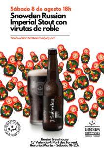 Snowden Russian Imperial Stout. Ibiza Beer Company. Ibosim Brewery Ibiza